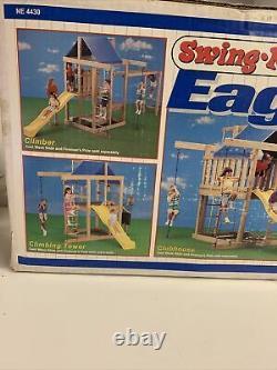 DIY Playground Kit Swing N Slide Eagles Nest Outdoor Kids Jungle Gym New Open