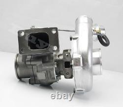 Diy High Performance Twin T3/t4 Vband Turbo Charger Kit Custom Fmic Piping Bk/bl