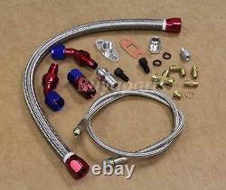 Diy High Performance Twin T3/t4 Vband Turbo Charger Kit Custom Fmic Piping Ch/rd