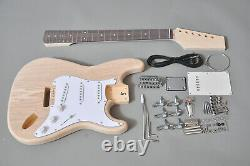 Diy-new Full Size 6 String Strat Style Concert Electric Guitar Kit