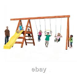 Do It Yourself Outdoor Playground Kit Custom Play Set with Swing Set Accessories