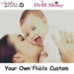 Drill Shiny New Year 3D Diy Diamond Painting Personal Photo Custom Full Square