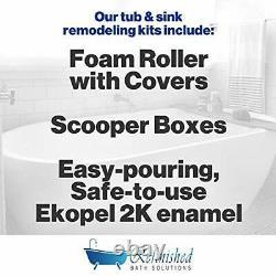 Ekopel 2K Bathtub Refinishing Kit Odorless DIY Sink and Tub Reglazing white