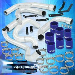 For 02-07 Subaru Impreza WRX GDA GDB Turbo Intercooler Piping Kit +Blue Couplers