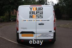Full Van Lettering Sign writing Custom Vehicle Graphics Kit- Wrap Film DIY