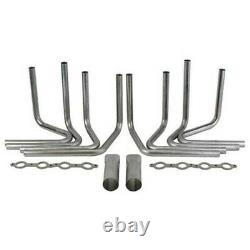 GM Chevy DIY Weld-up Custom LS Header Kit 2 primaries collectors v-band clamps
