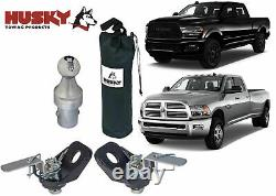Husky Towing 33099 Gooseneck Trailer Hitch Ball & Tie Down Chains Kit New USA