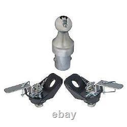 Husky Towing 33100 Gooseneck Trailer Hitch Ball & Tie Down Chain Kit New USA