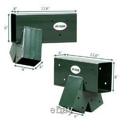JOYMOR Custom DIY Swing Set Hardware Kit with 2 End Brackets and Middle Bracket