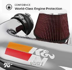 K&N Cold Air Intake Kit High Performance, Guaranteed to Increase Horsepower New