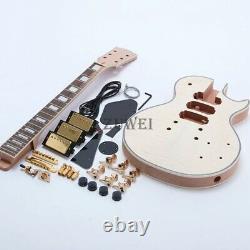 LP Custom Electric Guitar Kits 3pcs Humbuckers Flamed maple top DIY Guitar