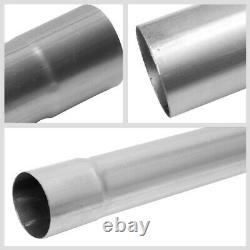 Mild Steel 16-Gauge Slip-Fit DIY Custom Mandrel 2.5 16 Pieces Exhaust Pipe Kit