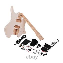 Muslady DIY Electric Guitar Kit Basswood Body Maple Neck Without Headstock W8O3