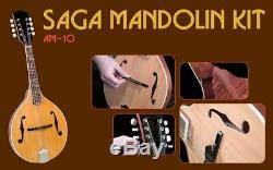 NEW Saga AM-10 A-Model Mandolin Kit Custom Builder Luthier DIY Assembly Project