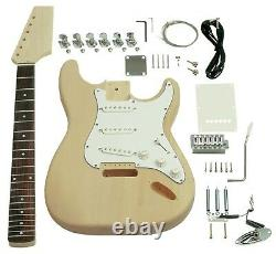 NEW Saga ST-10 Electric Guitar Kit Custom Builder Luthier DIY Assembly Project