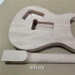 New 1 set unfinished guitar neck and body electric guitar kit DIY part