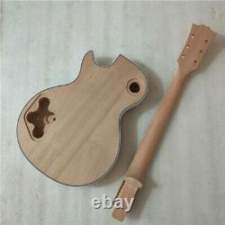 New DIY 1 set unfinished electric guitar kit mahogany body and guitar neck