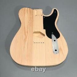 Pine Guitar Body Tele Style DIY Replacement Parts Unfinished Handcrafted Kit