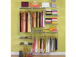 Rubbermaid Configurations 3-6 Feet Custom DIY Closet Organizer Deluxe Kit, White
