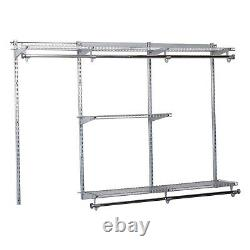 Rubbermaid Configurations 3-6 Feet Custom DIY Closet Organizer Kit (2 Pack)