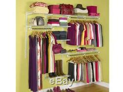 Rubbermaid Configurations 4-8 Feet Custom DIY Closet Organizer Deluxe Kit, White