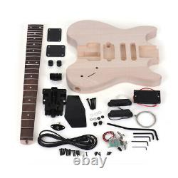 Special Design Without Headstock Muslady Unfinished DIY Electric Guitar Kit U2I5