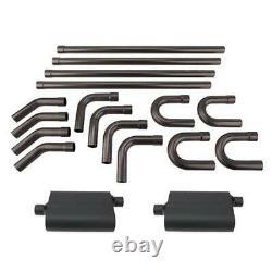 Speedway 2.25 Mild Steel DIY Custom Mandrel Exhaust Pipe Bend Kit with Mufflers