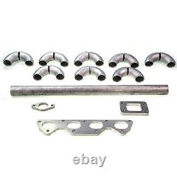 Squirrelly Ram T3 Turbo Manifold DIY Kit with 38mm 2 Bolt for Honda Acura B Series