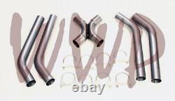Stainless Steel SS409 Universal Crossover X-Pipe Exhaust System Kit 2.5 DIY Kit