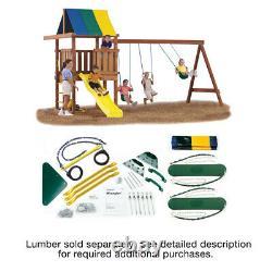 Swing-N-Slide Wrangler DIY Play Set Hardware Kit (Wood and Slide not included)