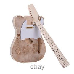 TL Style Unfinished Electric Guitar DIY Kit Basswood Body Maple Neck US STOCK