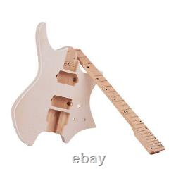 US Unfinished Guitar Body DIY Electric Guitar Kit Basswood Body Guitar Neck L7G0