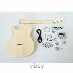Unfinished Custom DIY Tele Style Electric Guitar Kits with hardware Accessories