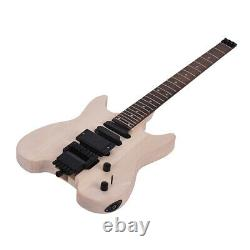Unfinished DIY Electric Guitar Kit Basswood Body Custom Without Headstock H7Y3