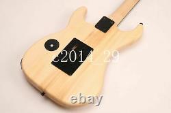 Unfinished Electric Guitar Kits ASH Body, Canada Maple DIY Guitar Banada Head