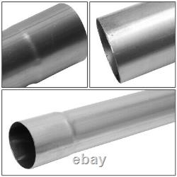Universal 16-Pieces 2.5OD Steel DIY Custom Exhaust Pipe Straight & Bands Kit