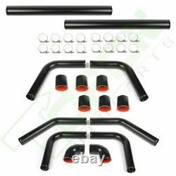 Universal 2.5 8pcs Turbo Intercooler Piping Pipe Kit Host Clamp Silicone 63mm