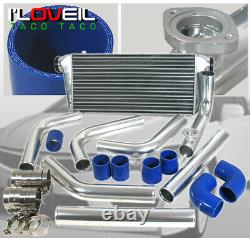Universal 2.5 Diy Turbo Fmic Intercooler Polish Piping Kit With Rs BOV Flange