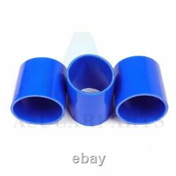 Universal 2.75 inch 8pcs Turbo Intercooler PIPING PIPE KITS Clamp Silicone