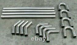 Universal DIY 2.25'' Mild Steel Dual Mandrel Exhaust Kit BPH-1081