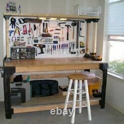 Workbench Table Legs Kit DIY Bench Custom Storage Wooden Shelf Garage Workshop